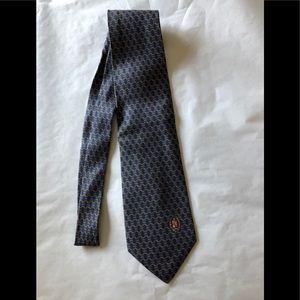 Gucci designer blue silk tie